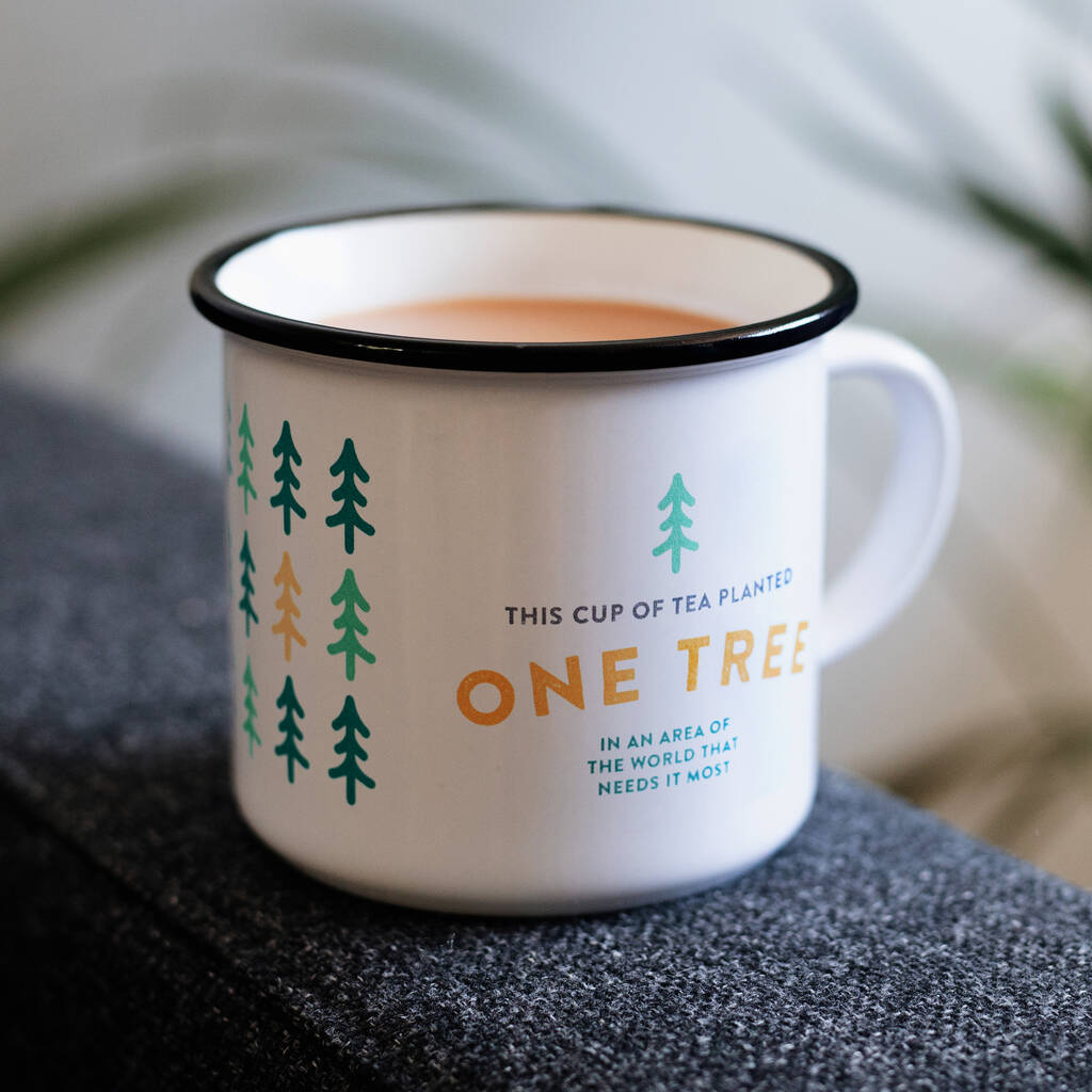 'This Cup Of Tea Planted One Tree' Ceramic Mug