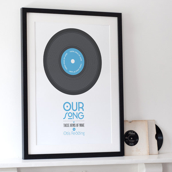 Personalised 'Our Song' Print