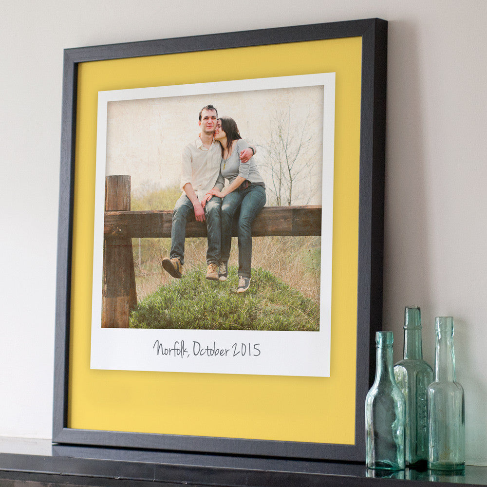 Personalised Giant Polaroid Style Print – The Drifting Bear Co.