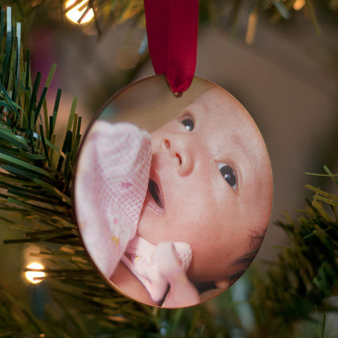 Personalised Babys First Christmas Photo Decoration