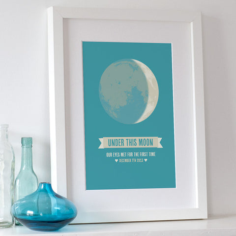'Under This Moon' Personalised Print