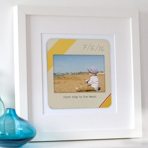 Personalised Retro Slide Photo Print