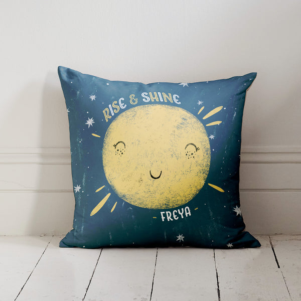 Personalised Double Sided Sun and Moon Name Cushion