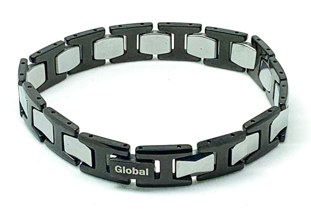 Black Tungsten Bracelet With Frequency