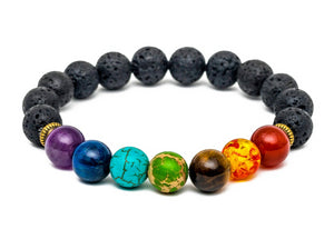 Chakra Bead Bracelet With Frequency