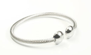 Stainless Steel Cable Bracelet With Frequency