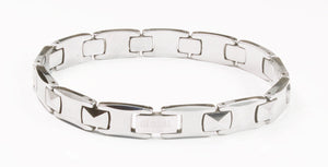Tungsten Men's Pyramid Bracelet With Frequency