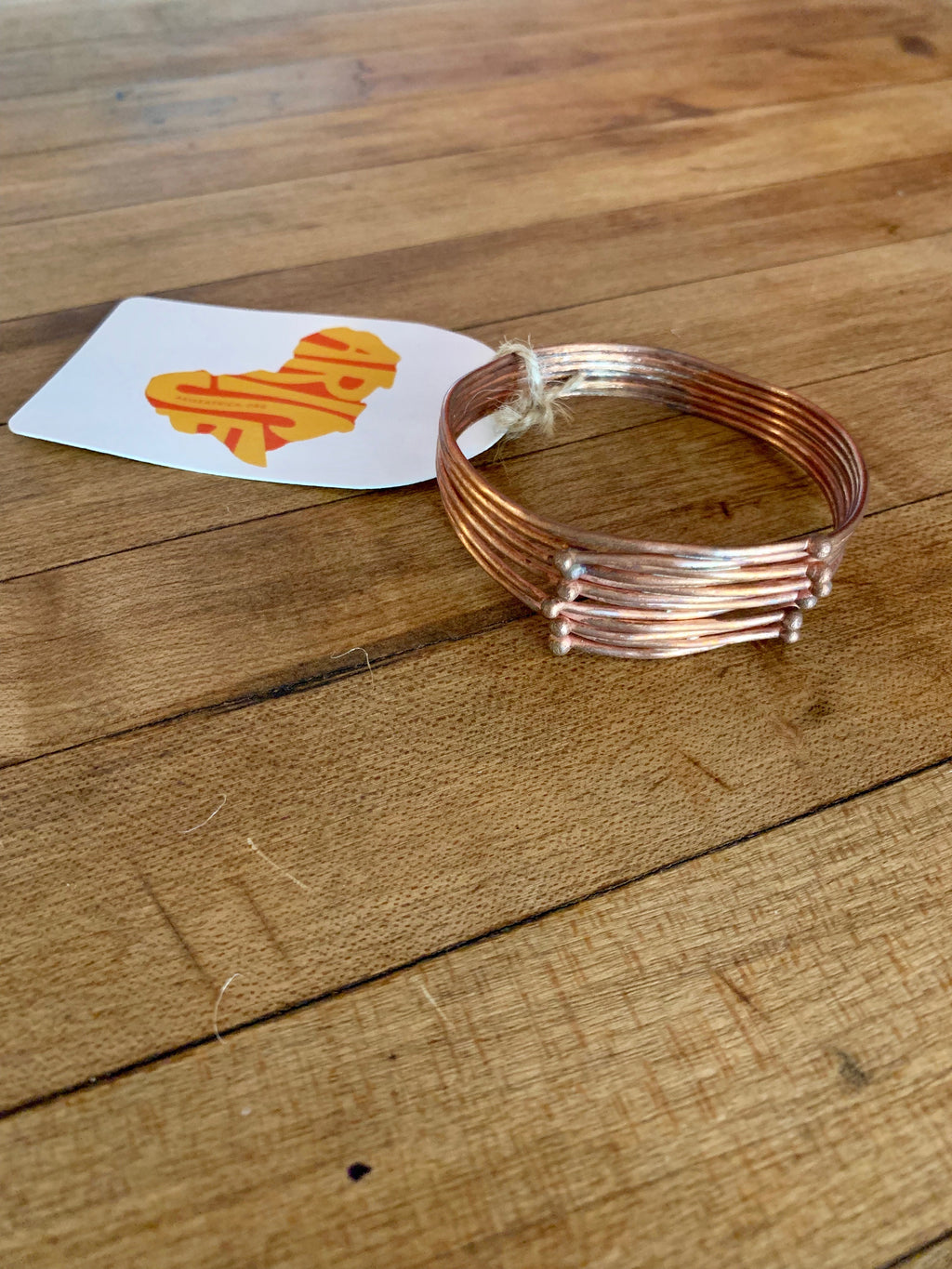 Copper Bracelet - Balled Soldered