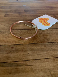 Copper Bracelet - Double Riveted Bangle