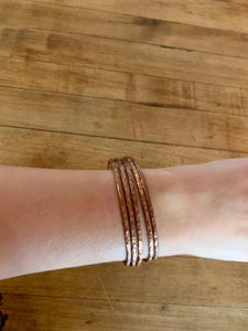 Copper Bracelet - Set of 5 Bangles