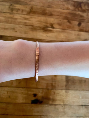 Copper Bracelet - Single Riveted Bangle