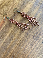 Copper Earrings - Balled Wire Dangles