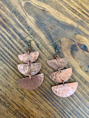 Copper Earrings - Wakanda Half Circle