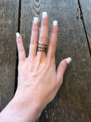 Copper Ring - Set of 5 Stacking