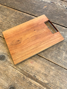 Small Wooden Tray with Copper Handle