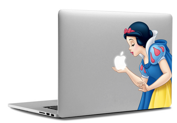 The Decal Girl - Snow White MacBook Sticker