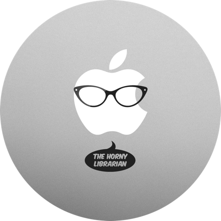 Horny Librarian MacBook sticker. MacBook decals and stickers.