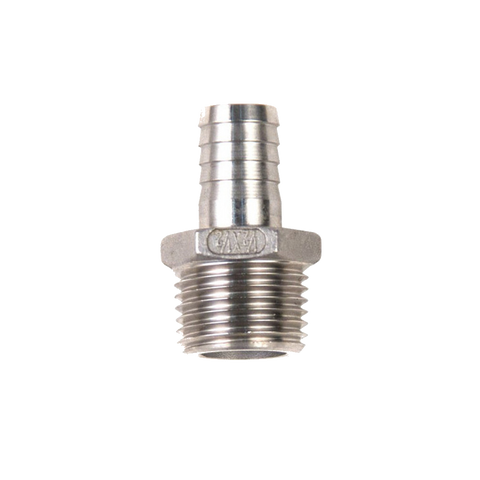 "1/2"" NPT x 1/2 Tubing Barb Fitting"