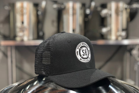 Black Trucker Hat - Curved Brim