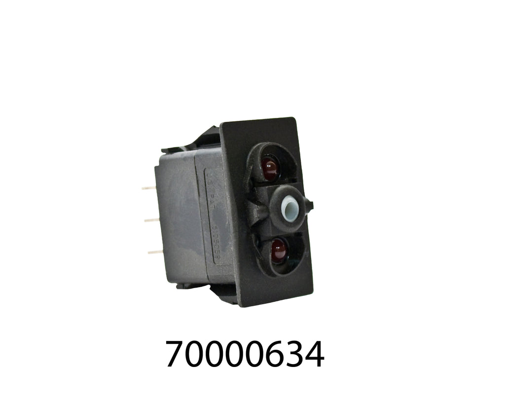 Rocker Switch Only - 3 Position With 4 Terminals, Without Cap