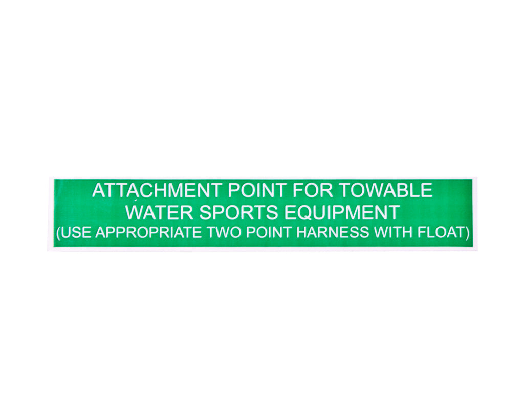 Label - Attachment Point For Towable Water Sports Equipment