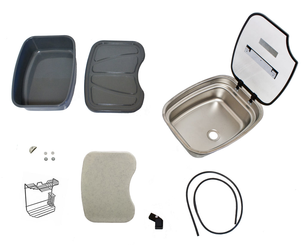 Bar Top Sink Kit- Stainless Steel with Accessories