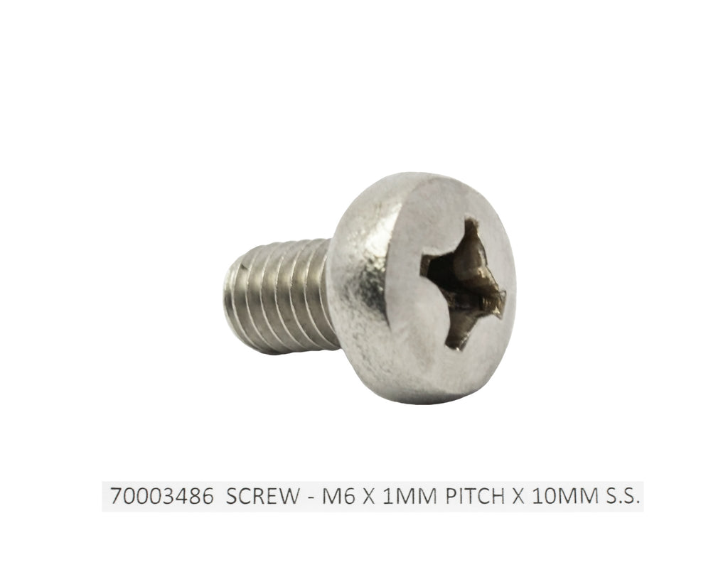 Screw - M6 x 1MM Pitch x10MM Stainless Steel