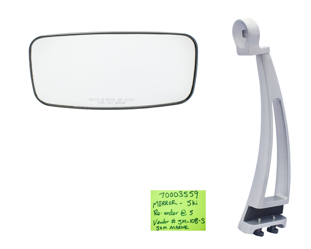 Ski Mirror for Rail Mount