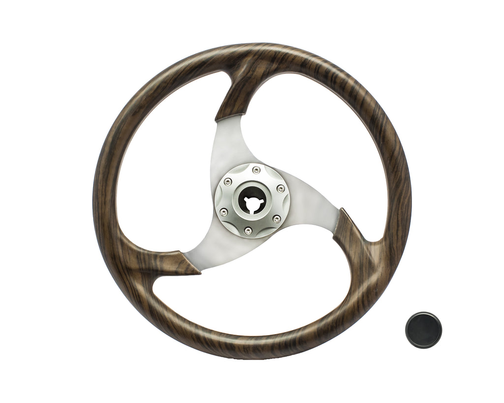 Steering Wheel - 3 Spoke Curly Maple
