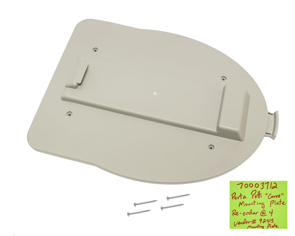 Porta Potti Mounting Plate for Curve Style