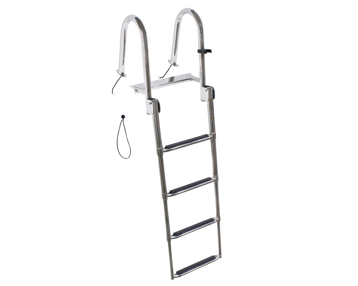 4 Step Telescoping Ladder w/LED