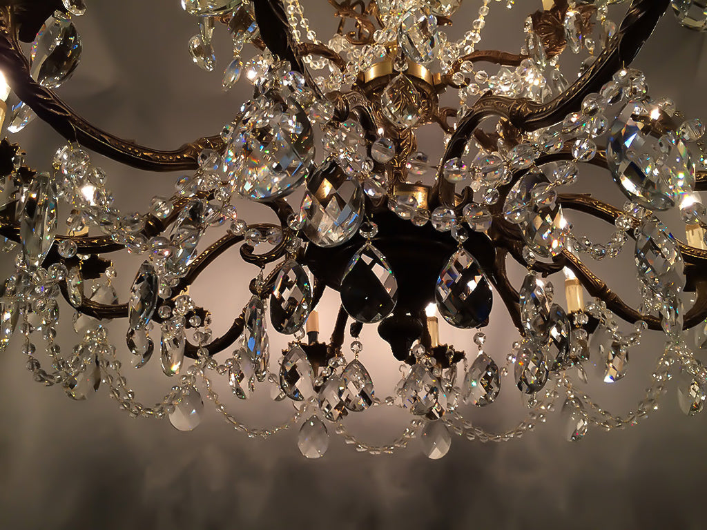 ... remove the old crystals and replace them with new chandelier crystals &  crystal chain and your done. Its such an easy project I recommend this to  anyone ... - Learn How To Restore Old Antique Brass Chandeliers Like The Pros.
