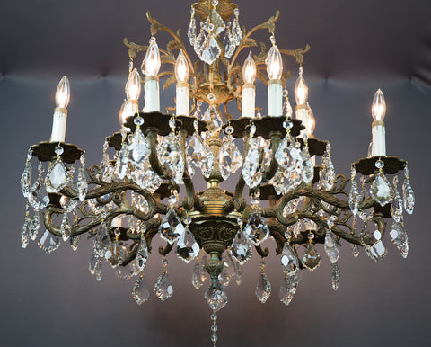 We replaced all the old dingy prisms with our line of chandelier crystals which all have a beautiful glimmer to them we would love to hear from you so