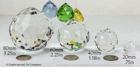 Clear Chandelier Hanging Ball | Crystal Prism World
