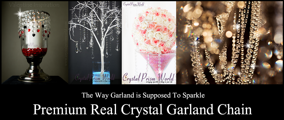 Crystal Chandelier Garland Chain Strands | Crystal Prism World