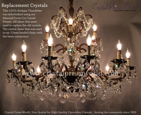 Chandelier Crystals Drops - Used chandelier crystals