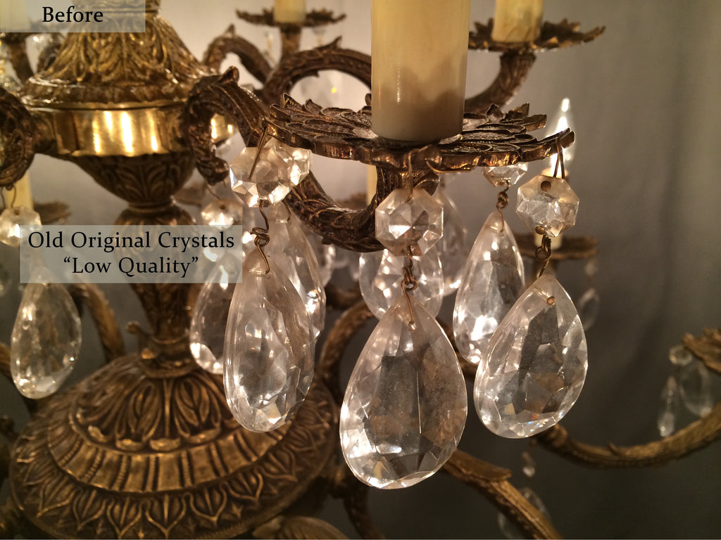 After Photos - Learn How To Restore Old Antique Brass Chandeliers Like The Pros.