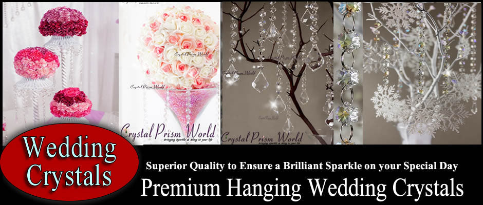 Hanging Crystals for Weddings | Crystal Prism World