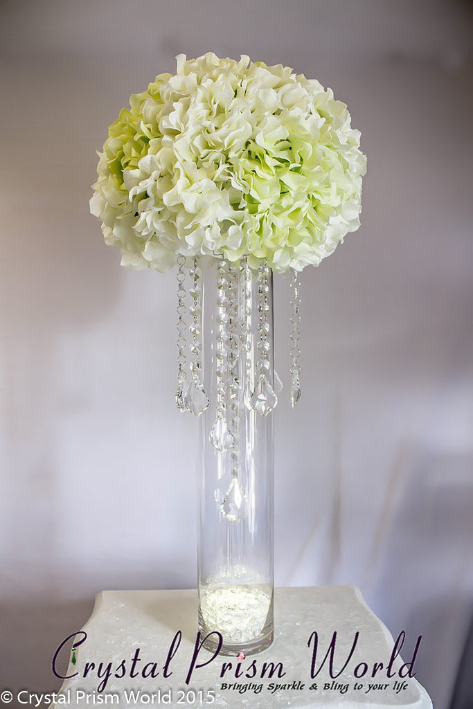 Wedding Centerpiece Hanging Crystals