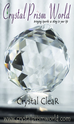 Crystal Ball - Clear Faceted Balls 20mm, 40mm, 60mm, 80mm | Item #B4875