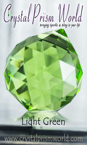 Crystal Ball - Green Faceted Crystal Ball 40mm | Item #B3216 (Out Of Stock)