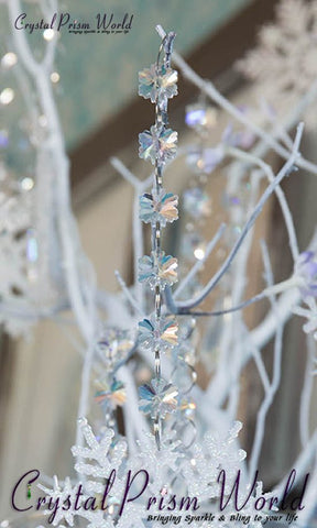 Crystal Chain - 6ft Snowflake Crystal Garland | Item #H5016