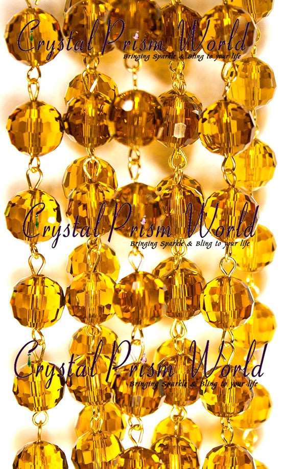 Amber Crystal Beaded Chandelier Chain | Crystal Prism World