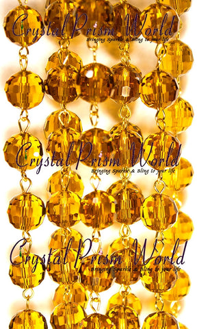 Crystal Chain - Amber Bead Chain | Item #A3640