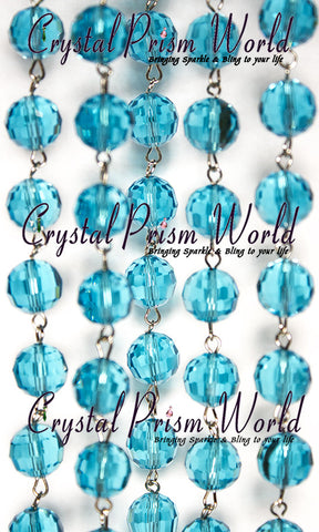 Aqua Bead Garland | item #A6659 (Sold Out) - Crystal Prism World