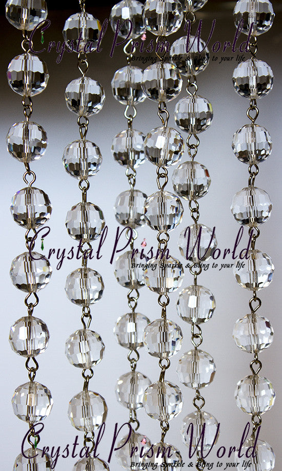 Crystal garland chain strands crystal prism world crystal chain chandelier beaded garland item b0105 back in stock 2 mozeypictures Choice Image