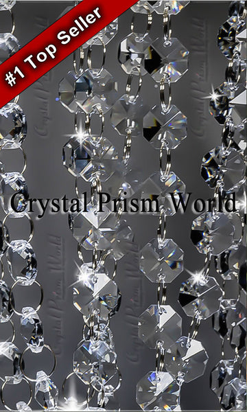 Crystal garland chain strands crystal prism world aloadofball Choice Image