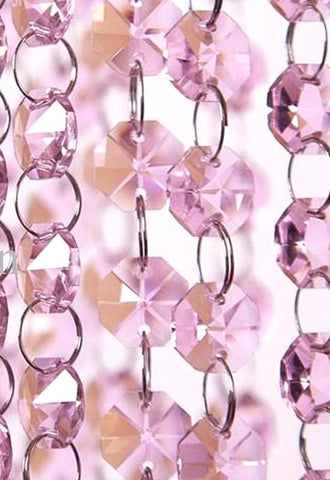 Pink Octagon Chain | Item #8898 - Crystal Prism World