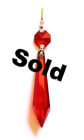 Icicle Or U-drop - Red (SOLD OUT)