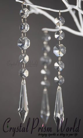 Pendalogue - 6Pc, Icicle Crystal Wedding Pendant | #W9875C